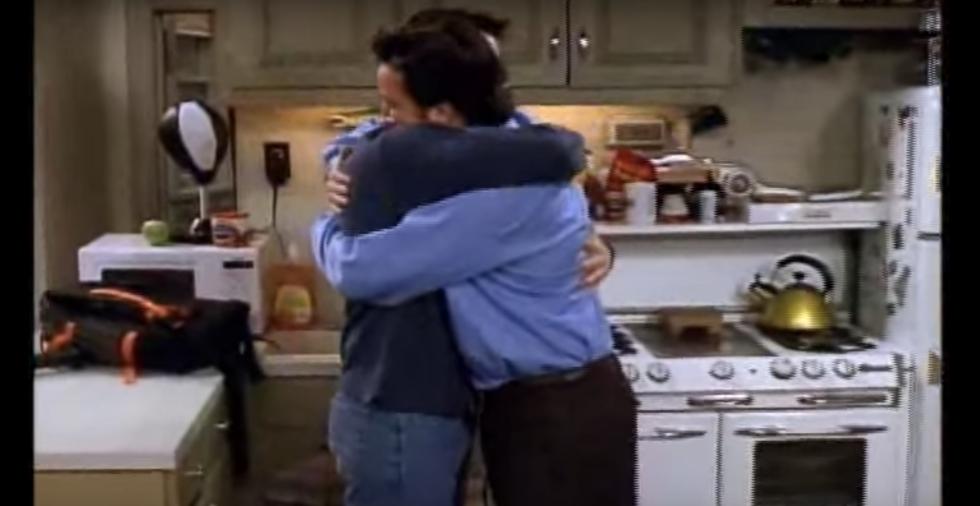 Joey and Chandler hugging