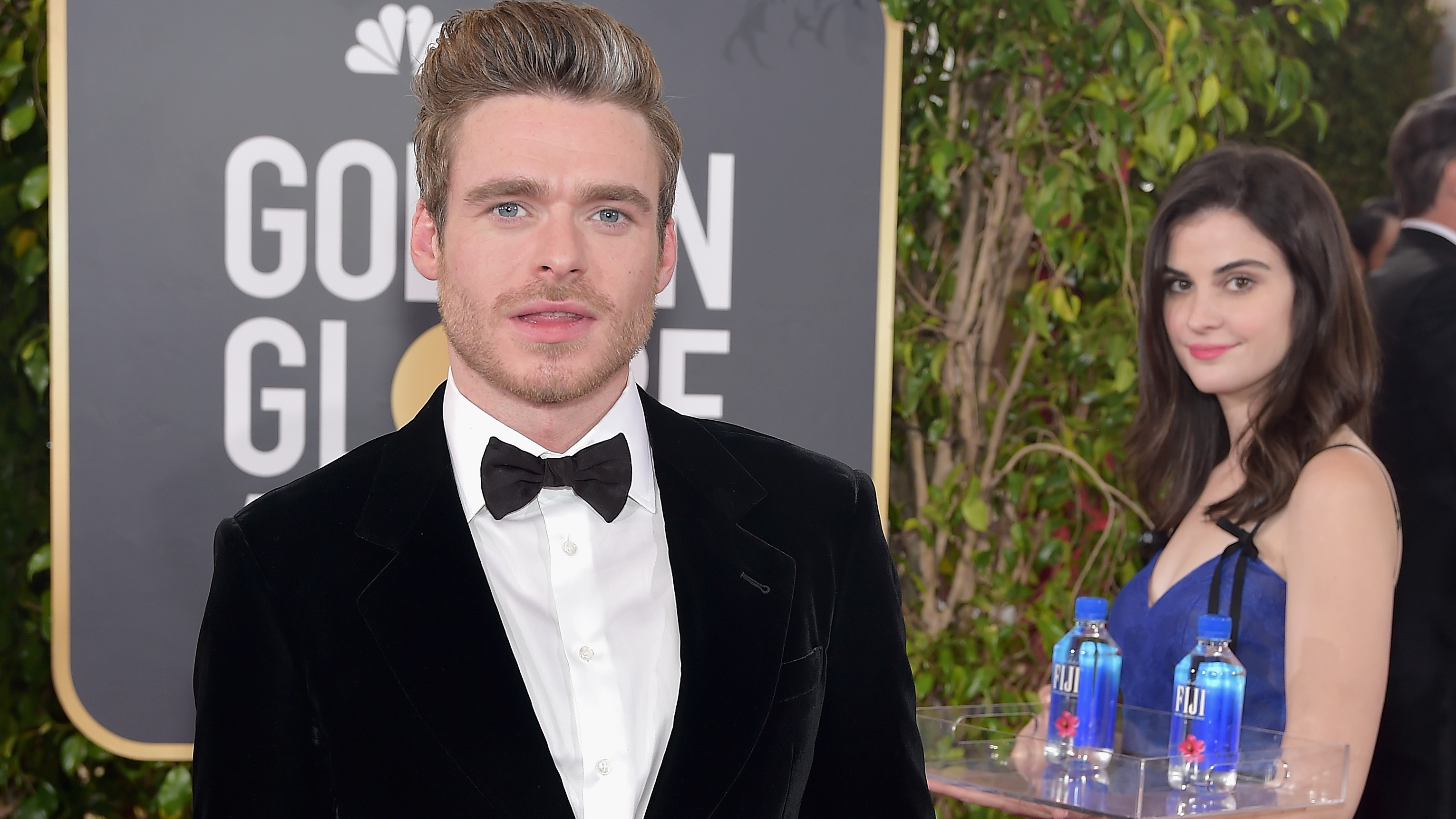 The Fiji Water Girl Stole The Golden Globes Red Carpet Paper