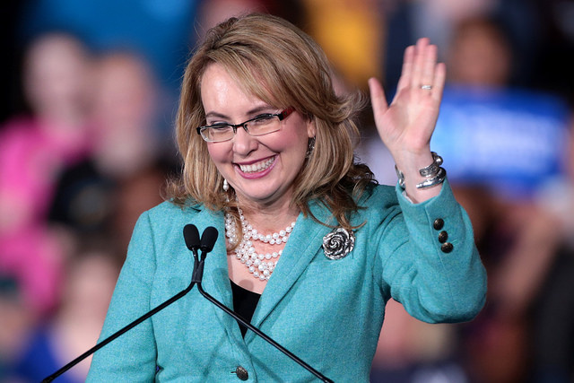 photo image Gabby Giffords Was Shot Eight Years Ago. Yesterday, She Helped Introduce A Dem Gun Bill.