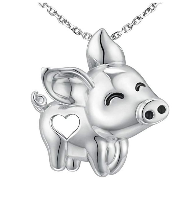 Buy the MANBU 925 Sterling Silver Unique Tree of Life Charm - Pig on Amazon