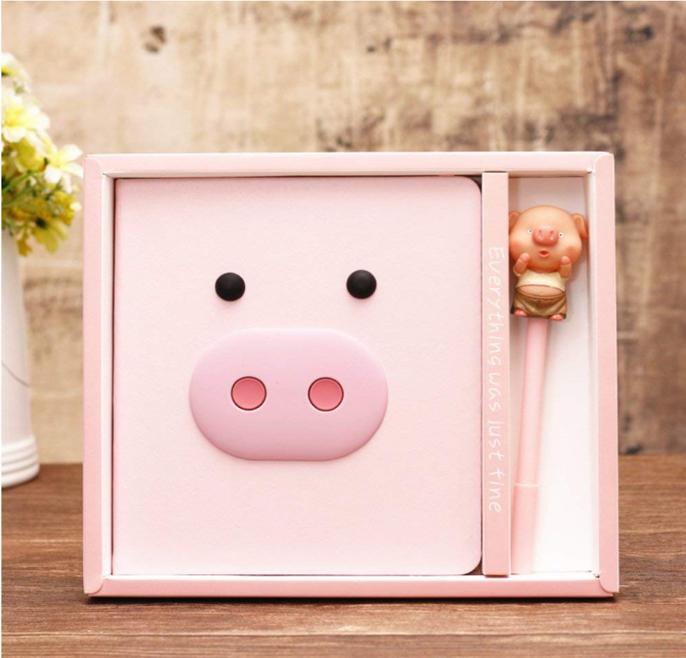 Buy the Trendy Pink Pig Journal on Amazon