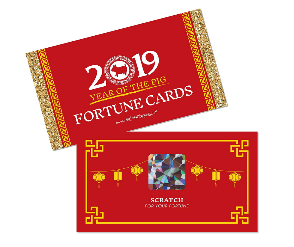 Buy Chinese New Year - 2019 Year of The Pig Party Scratch Off Fortune Cards on Amazon