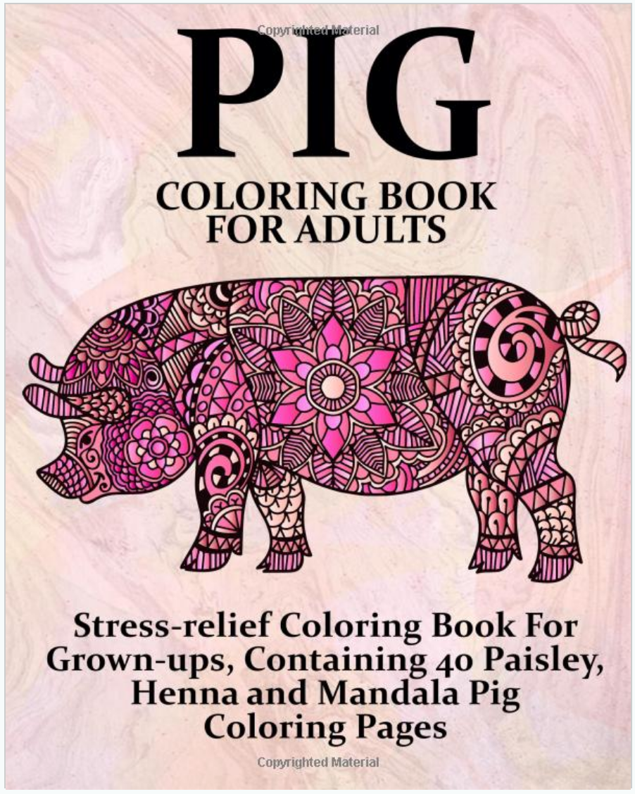 Buy the Pig Coloring Book For Adults on Amazon