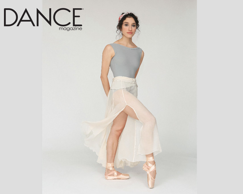 Channeling 1970s Natalia Makarova, Leta Biasucci stands with one foot on pointe, staring enigmatically into the camera