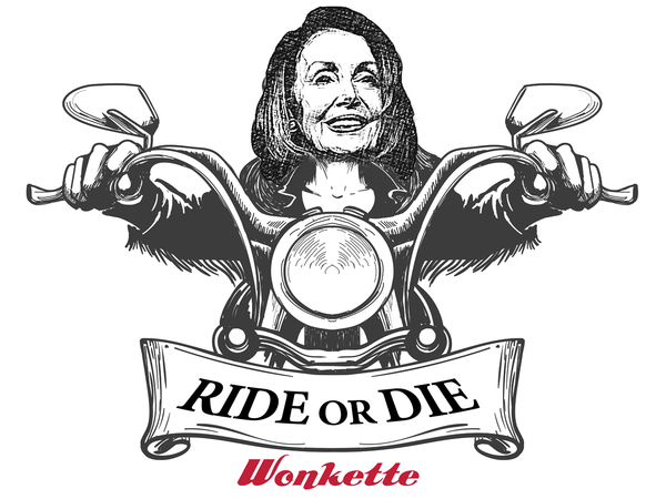 photo image Nancy Pelosi Gonna Break Her Heel Off In Steven Mnuchin's Botoxed Ass
