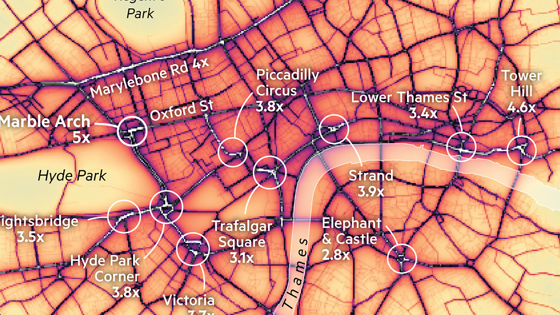 A map of London s most toxic breathing spots