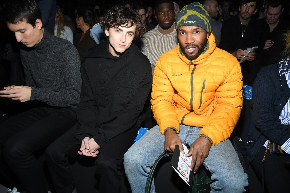 Timothée Chalamet and Frank Ocean Take Paris Fashion Week