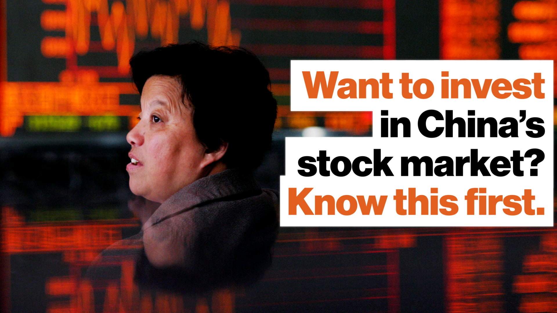 Should you invest in China s stock market? Know this one thing first.