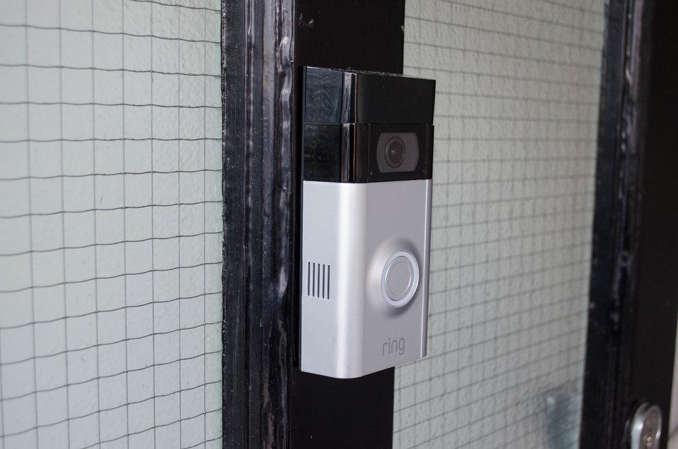 Picture of Ring Video Doorbell 2 on a doorway