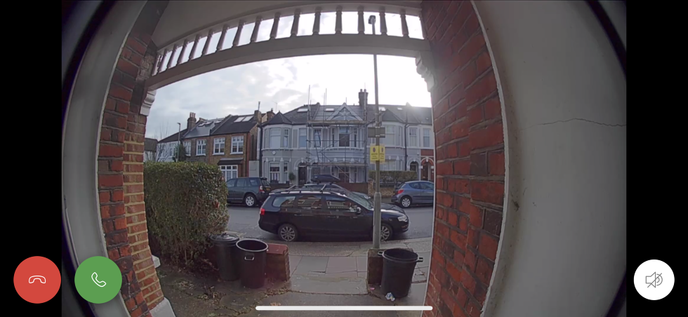 Picture of Ring Video Doorbell screen on mobile device.