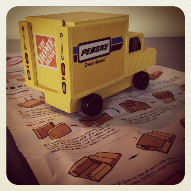 Fun Kid Stuff Build A Penske Truck At The Home Depot July 7
