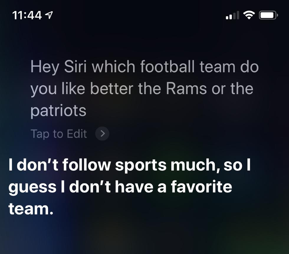Super Bowl Siri Digital Assistants