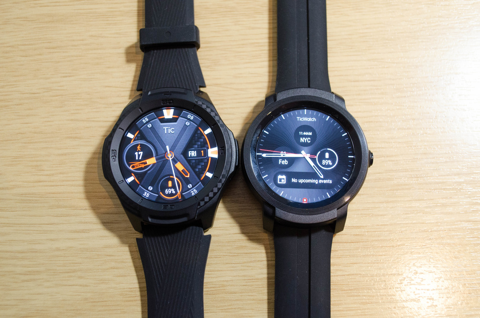 Picture of Ticwatch s2 and E2 smartwatches
