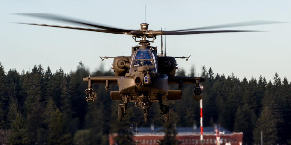 Video shows Army Apache helicopters flying feet off ground