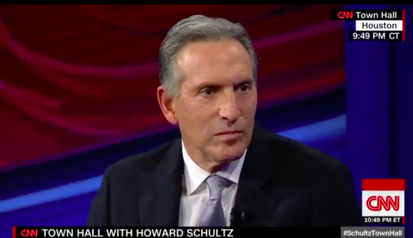 Howard Schultz 'Doesn't See Race,' Is Stupid About Other Things Too