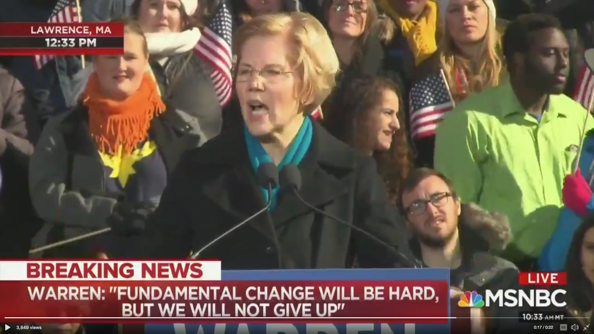A black business owner walked out on Elizabeth Warren's presidential announcement—here's why