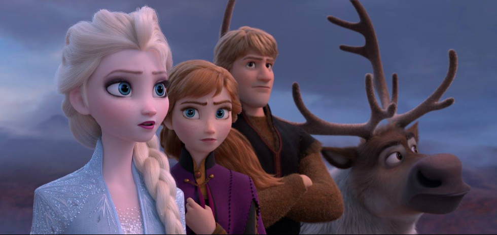 Elsa, Anna, Kristoff, and Sven