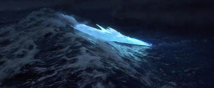 Elsa freezing the ocean