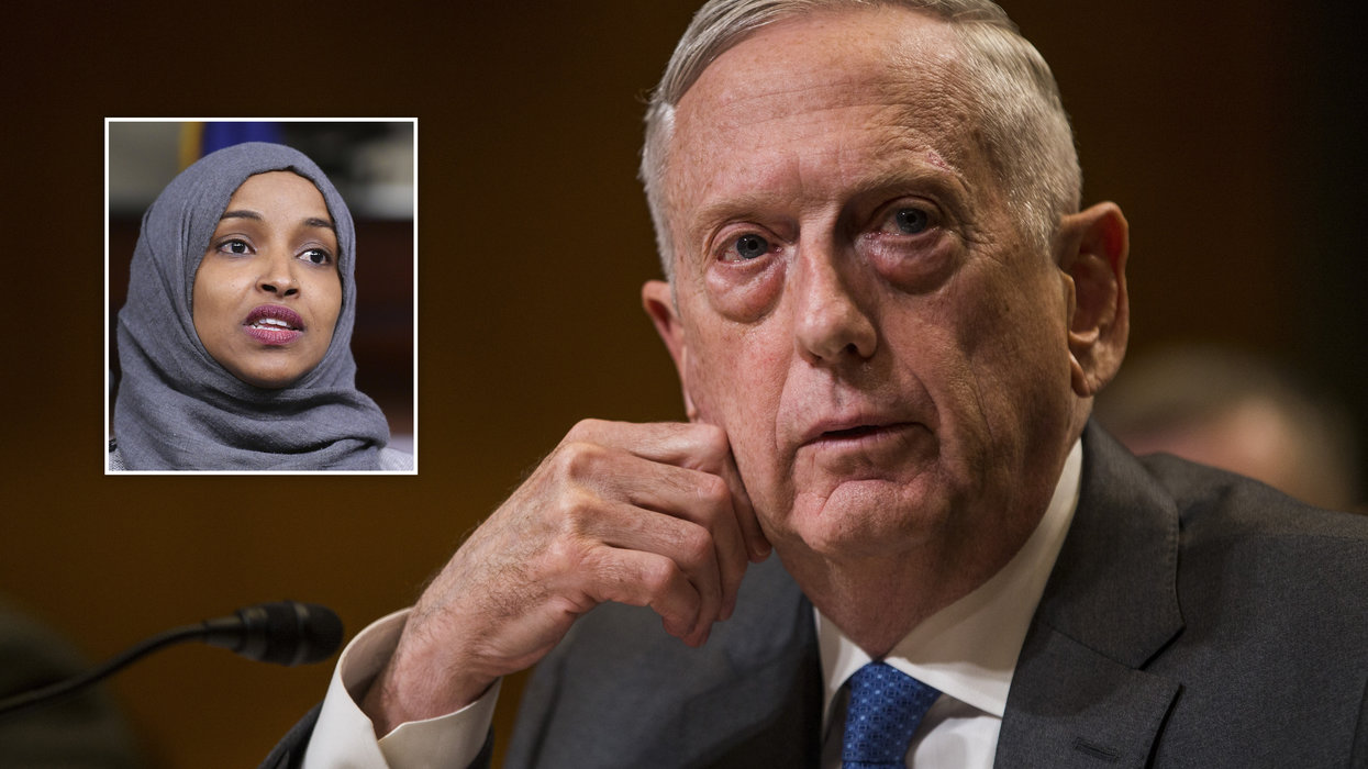 News video claims James Mattis made 'same critiques' of Israel as Rep. Ilhan Omar. But here's the truth.