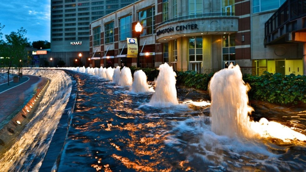 Photo of Triangle Park in downtown Lexington, KY