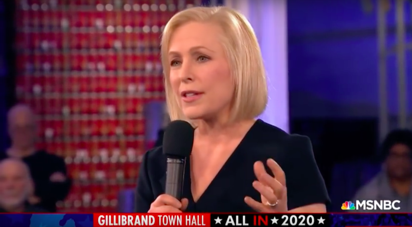 photo image Gillibrand Talks Immigration, Education, That Other Thing You Won't Shut Up About At MSNBC Town Hall