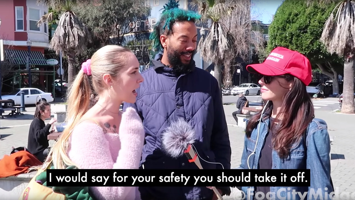 Pro-Trump YouTuber visits San Francisco to interview residents about red MAGA hats. Their reactions are priceless.