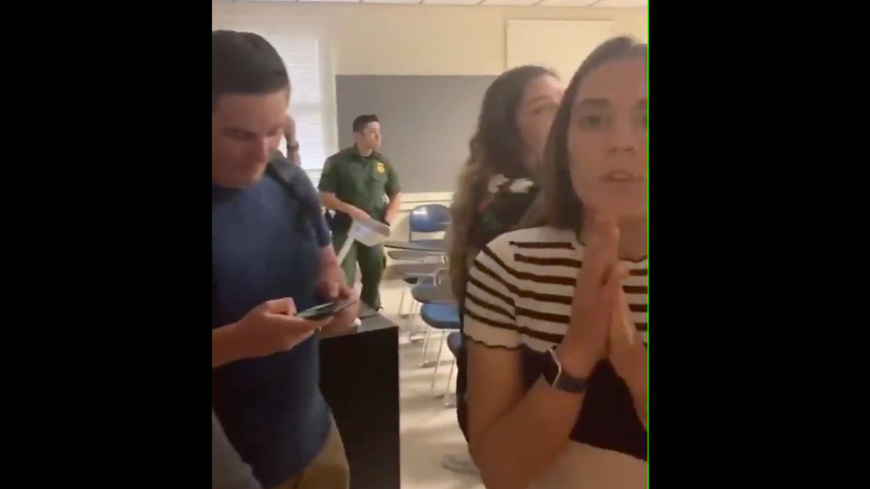 Students ruthlessly harass Border Patrol agents visiting university for presentation. Video of the incident is appalling.