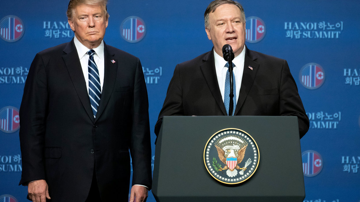 Secretary of State Mike Pompeo says it's possible God chose President Trump to 'save the Jewish people from the Iranian menace'