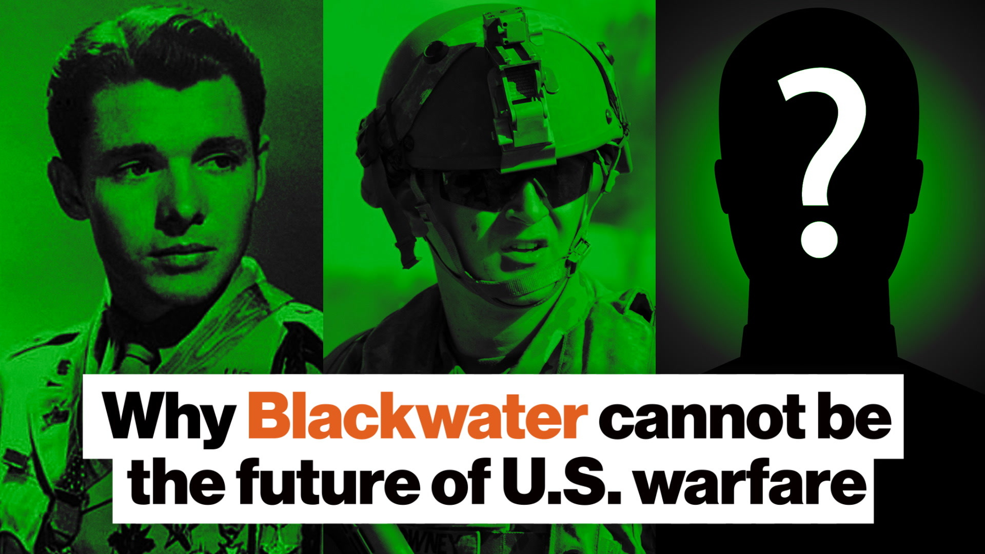 Why Blackwater cannot be the future of U.S. warfare