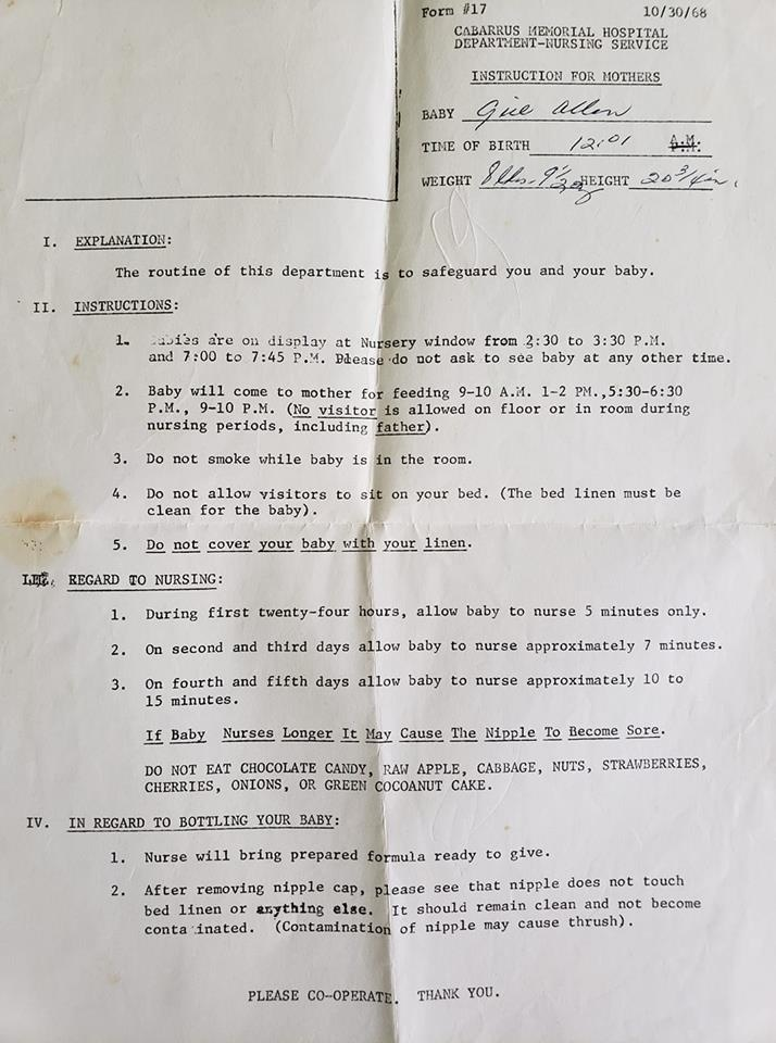 These vintage hospital birth instructions show just how much