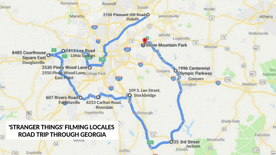 We made a map so you can take a road trip of \'Stranger ...
