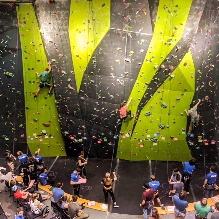 Johnson Center rock wall