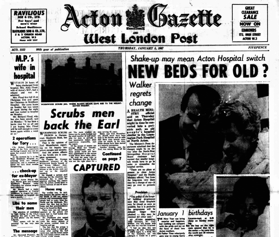 Acton Gazette, 5 January 1967
