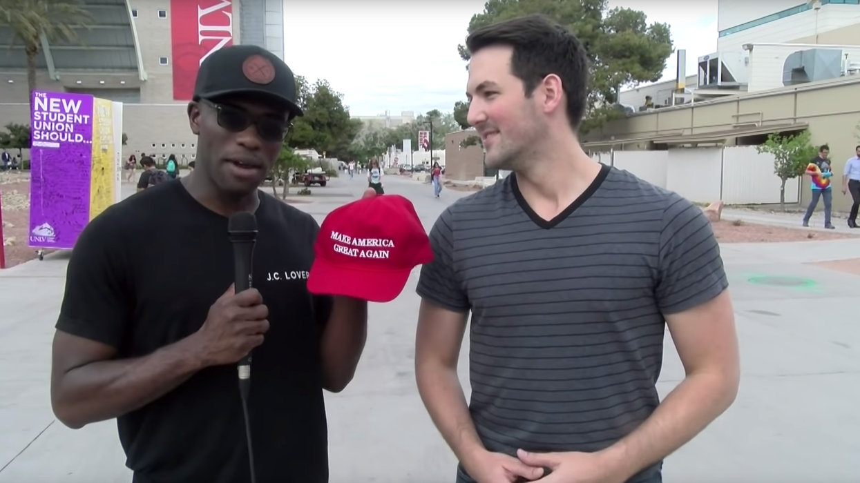 College students are asked if MAGA hats are the new KKK hood. Their answers are predictable.