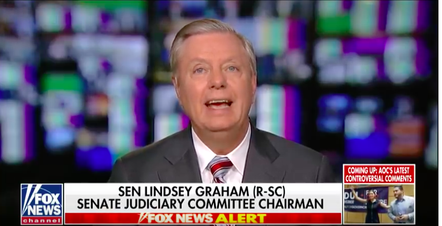 Surprise, Lindsey Graham Only Cares About Obstruction When Bill Clinton's Dong Is Involved