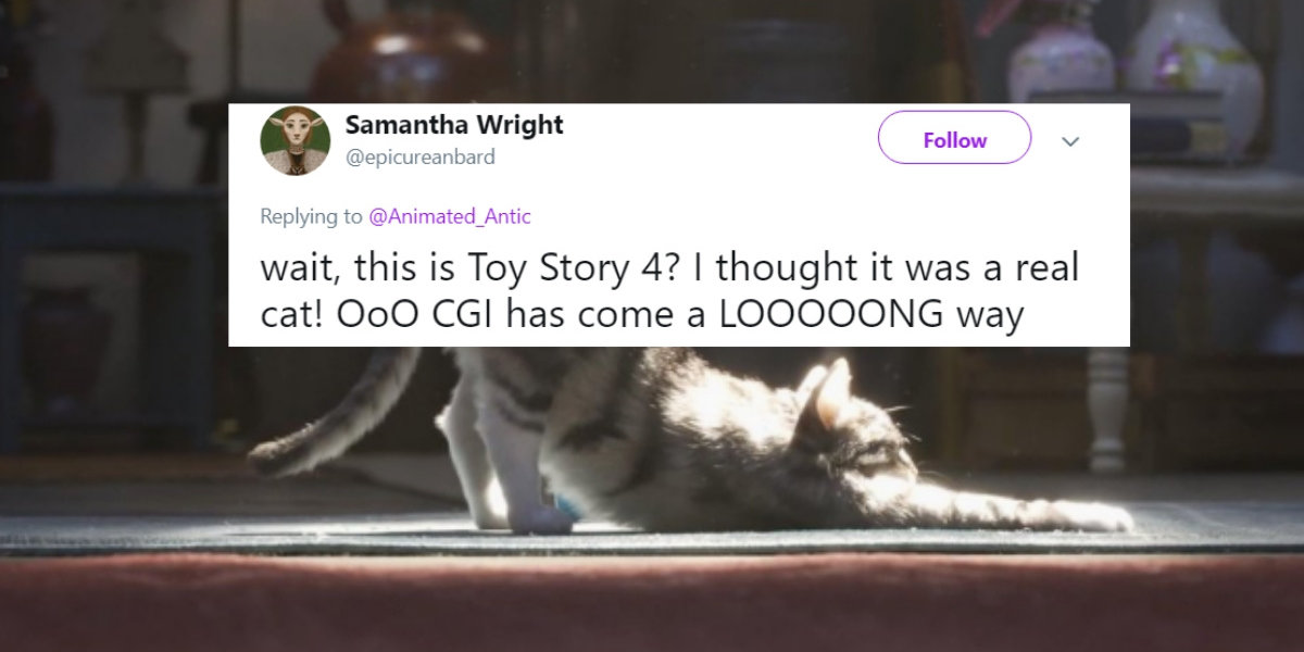 People Are Freaking Out Over How Real The Cat Looks In 'Toy Story 4