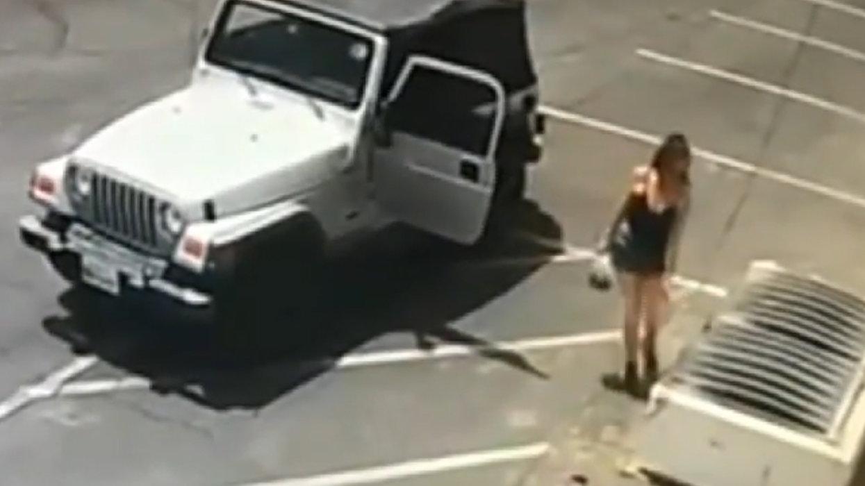 WATCH: California woman caught on camera dumping bag of newborn puppies at dumpster