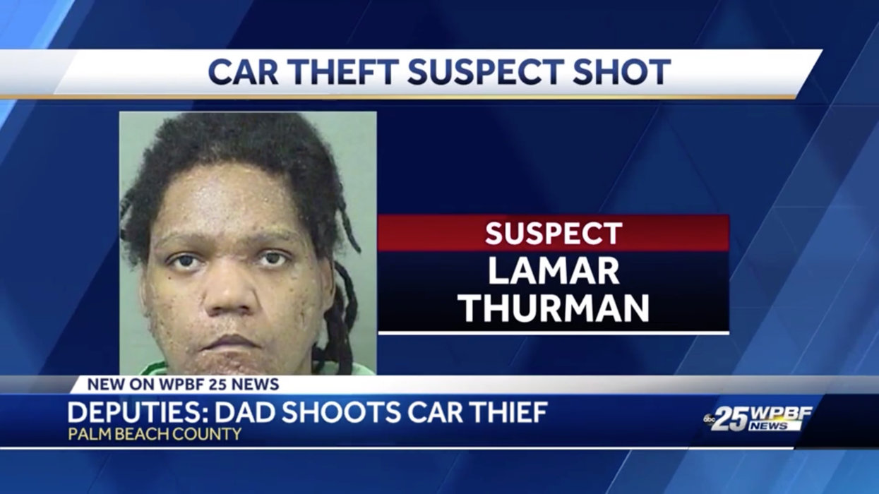 Suspect reportedly steals man's vehicle with man's child inside. Suspect finds out hard way that he picked the wrong car to jack.