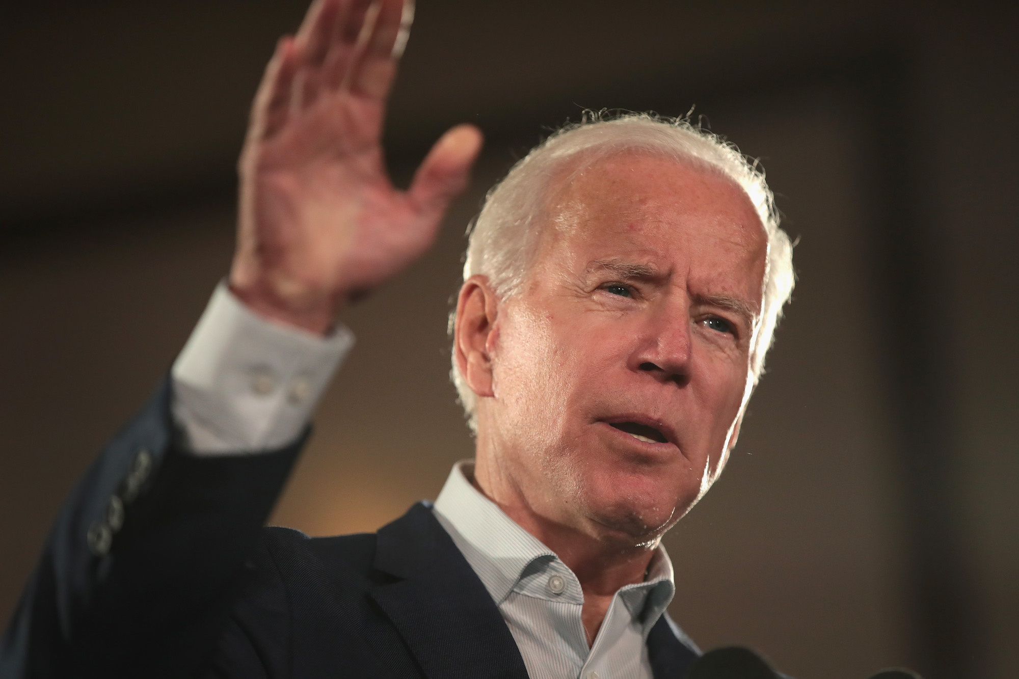 Joe Biden claims world leaders are begging him to 'save the world' and run against President Trump