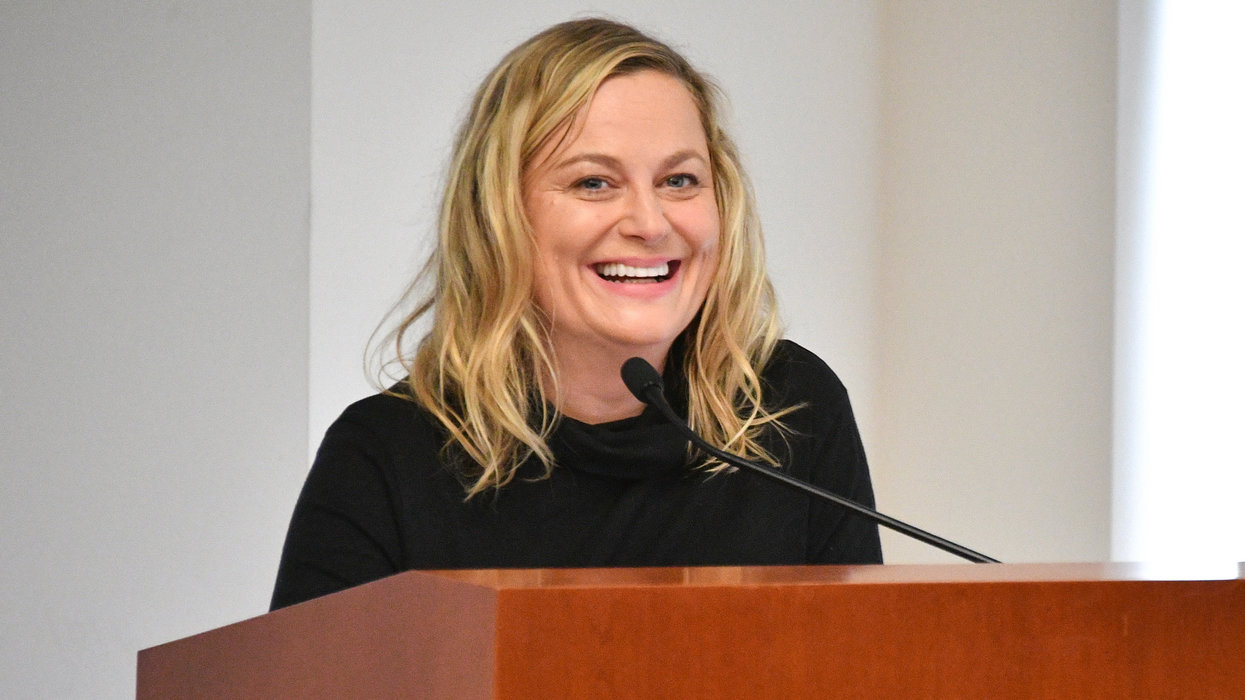 Wealthy, successful actress Amy Poehler complains that it's 'hard' not to have a daily 'panic attack' with Trump as president