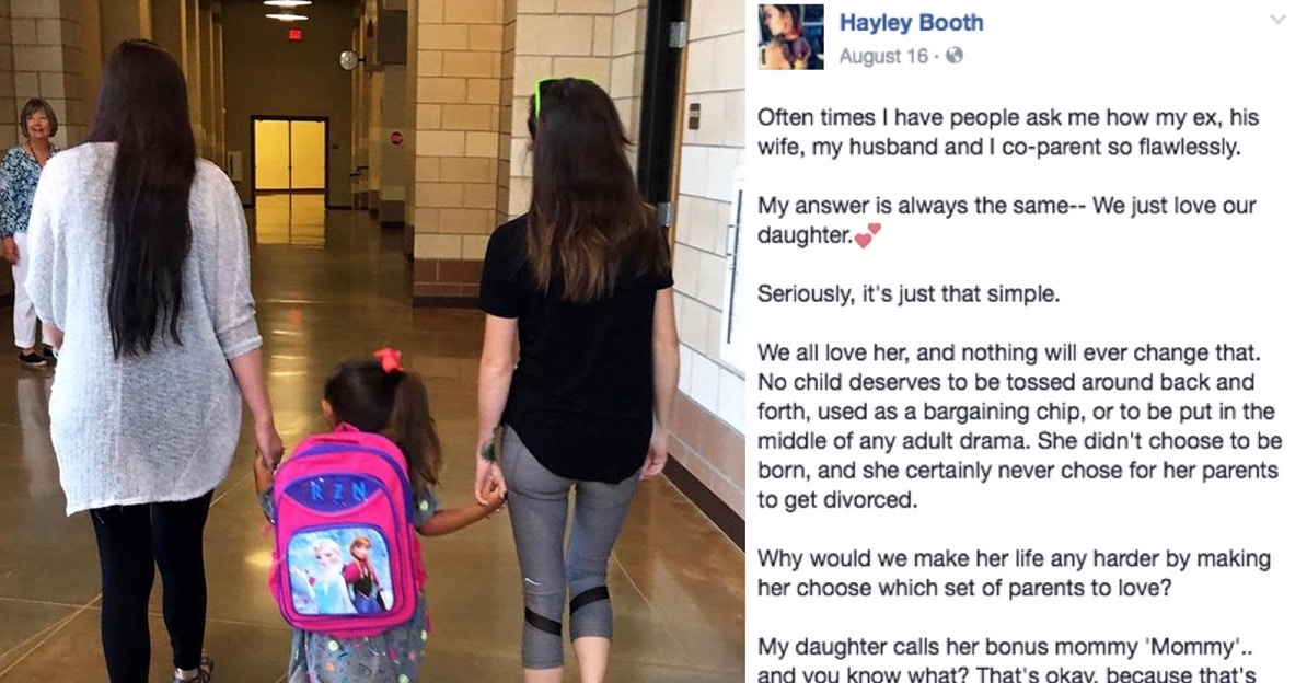 A mom's sweet photo of her daughter and her 'Bonus Mommy' is