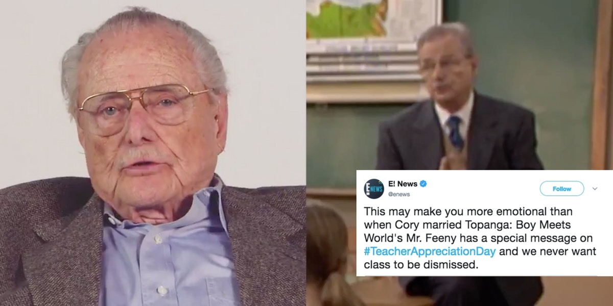 Mr. Feeny came back to teach one more lesson. And it\'s ...