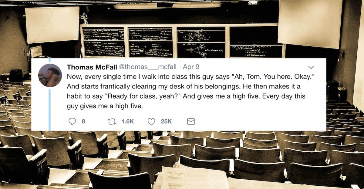 A college student who was fed up with his classmate has gone