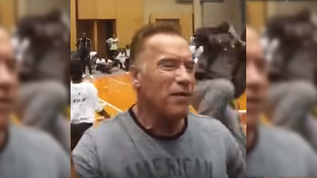 WHAT? Video shows Arnold Schwarzenegger attacked by man in South Africa shouting... something