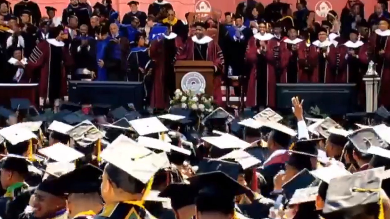 Billionaire businessman makes huge surprise announcement at Morehouse commencement