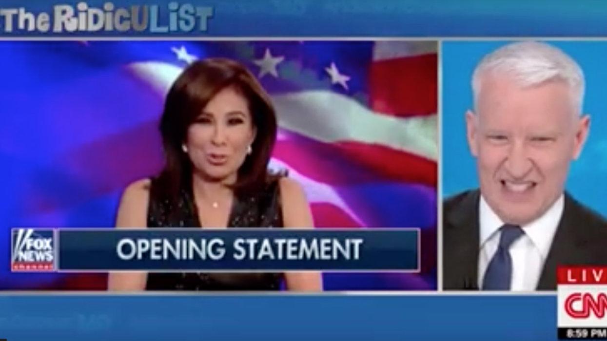 CNN's Anderson Cooper mocks President Trump, mimics 'Islamophobe-in-arms' Jeanine Pirro during bizarre segment
