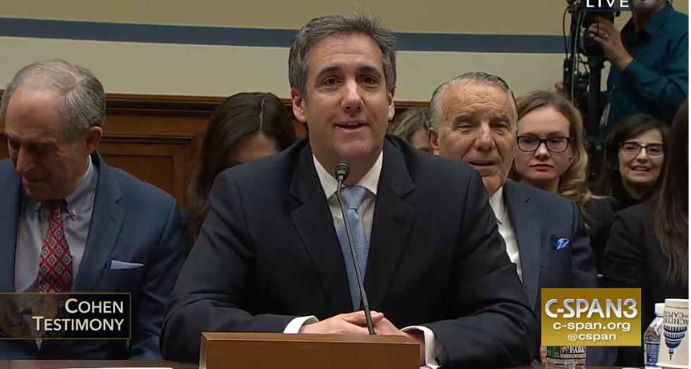 Michael Cohen Yuks It Up For House Intel Committee: It's Your SURPRISE LIVEBLOG!