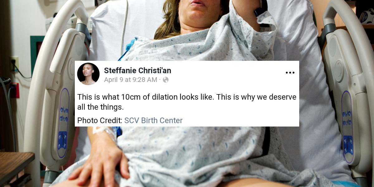 This Viral Photo Showing How Big A Woman's Cervix Gets During