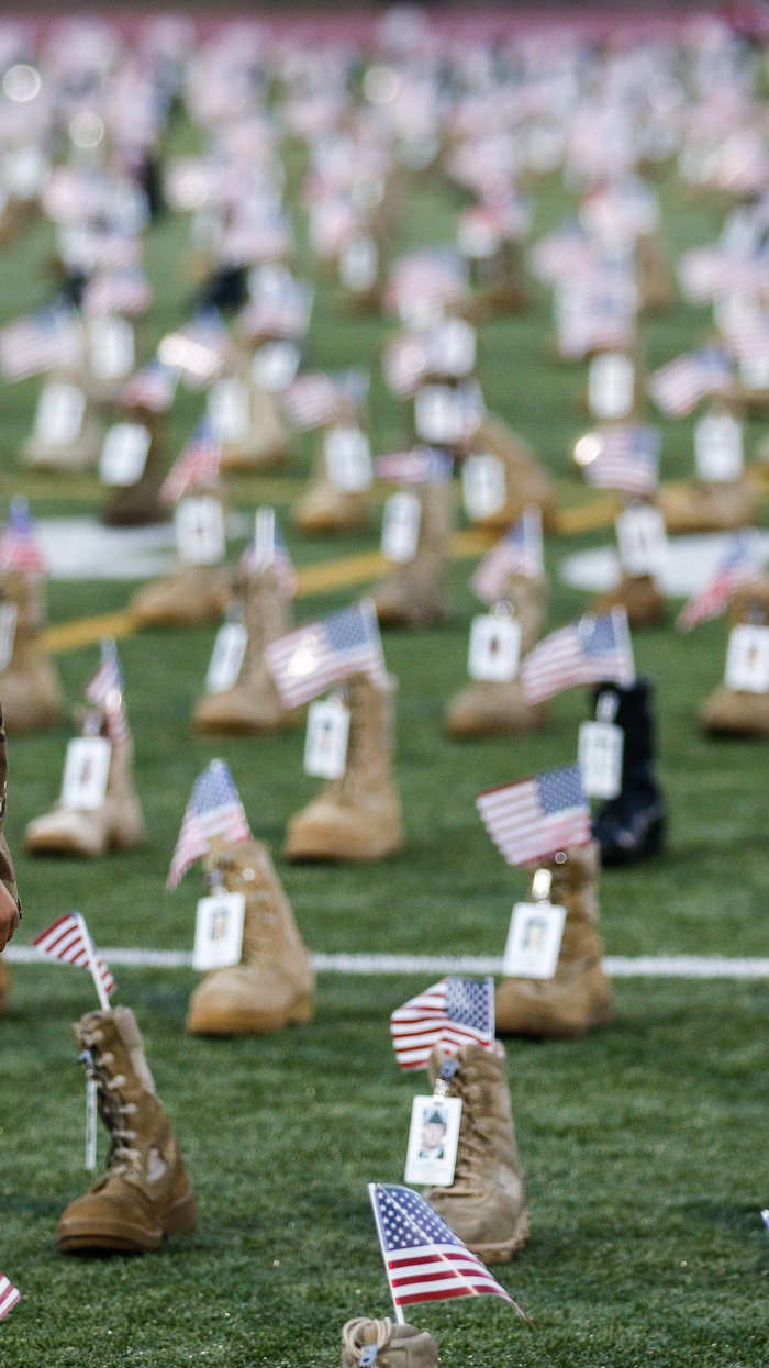 7,500 Boots Are On Display At Fort Bragg To Honor Fallen
