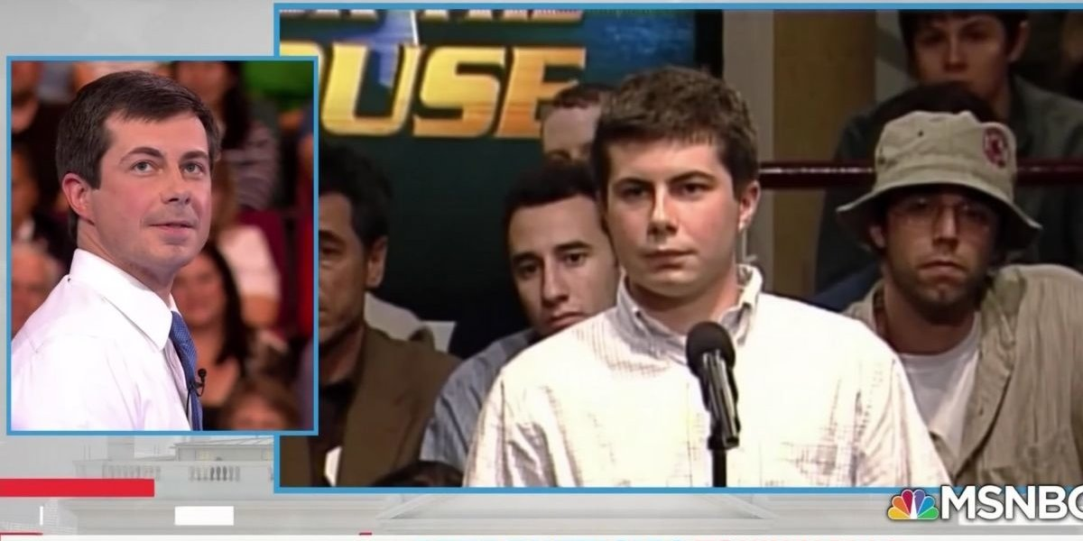 Young Pete Buttigieg Asked A Question At A 2003 MSNBC Presidential Town Hall—And He Clearly Took The Answer To Heart